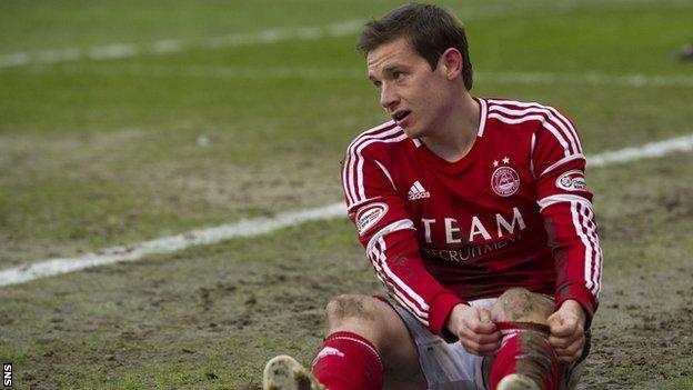 Aberdeen midfielder Peter Pawlett