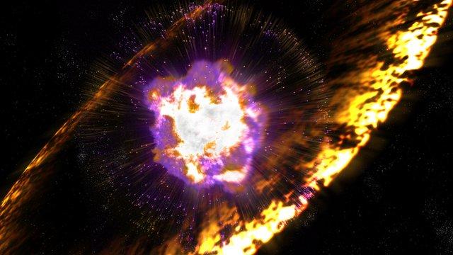 Artist's concept of supernova