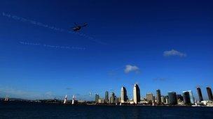 San Diego skyline September 2007