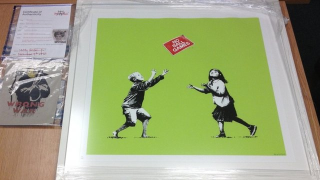 Wrong War by Banksy