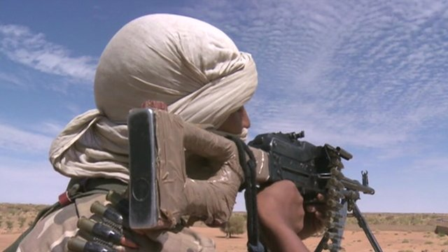 Fighter in Mali