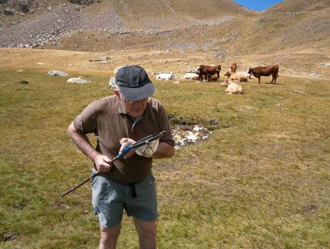 Michel Brulin, 63, in Mercantour park
