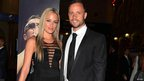 Reeva Steenkamp and Oscar Pistorius in Johannesburg (image from 7 Feb 2013).