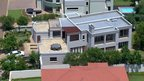 Aerial view of Oscar Pistorius&#039;s home in a gated housing complex in Pretoria, South Africa.