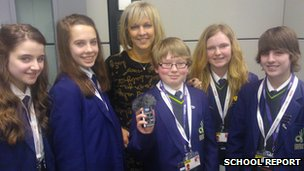 Denton Community College School Reporters & BBC Radio Manchester's Becky Want