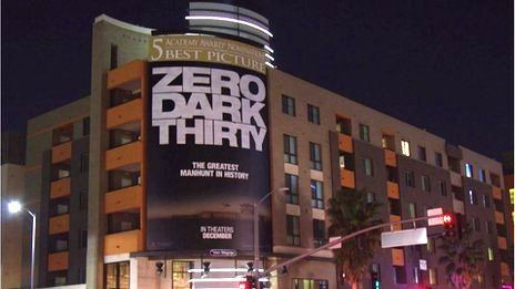 Zero Dark Thirty billboard in LA