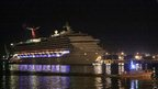 Carnival Triumph cruise ship reaches the port of Mobile, Alabama, on 14 February 2013