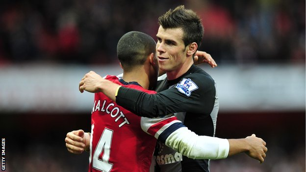 Theo Walcott and Gareth Bale