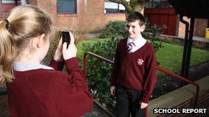 St Aidan's pupils film a school tie story