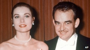 Grace Kelly with Prince Rainier of Monaco