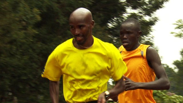 Mo Farah training in Kenya