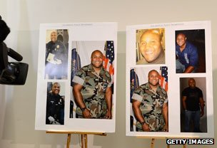 Police display photos of Dorner