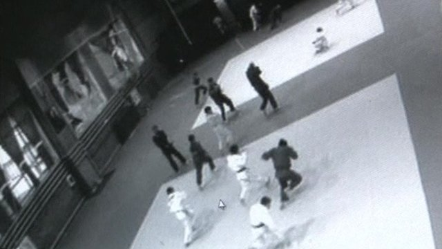 CCTV shows schoolchildren running from meteor impact