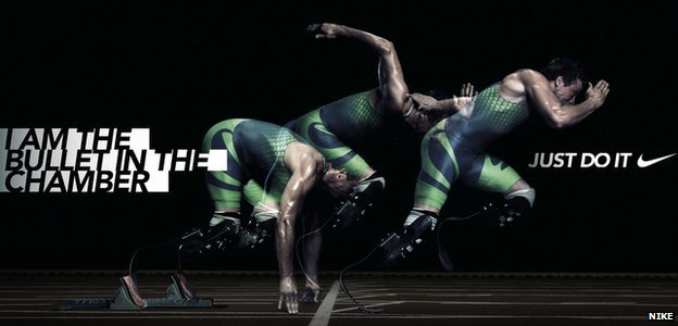 "Nike ""I am the bullet in the chamber"" ad campaign"