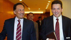 Anwar Ibrahim and Nick Xenophon