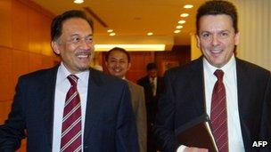 Anwar Ibrahim and Nick Xenophon