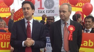 Ed Miliband in Eastleigh