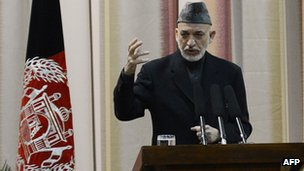 Afghan President Hamid Karzai (16 Feb)