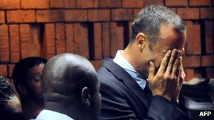 Oscar Pistorius in court on Friday, 16 February