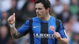 Barnsley striker Chris Dagnall