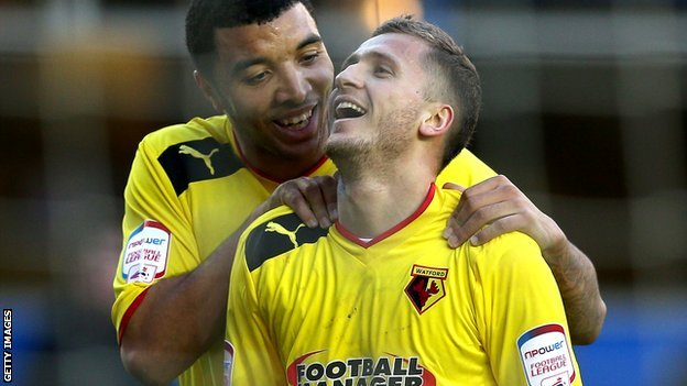 Troy Deeney and Almen Abdi
