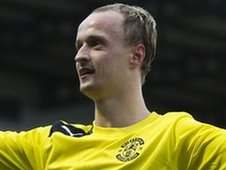 Hibernian striker Leigh Griffiths