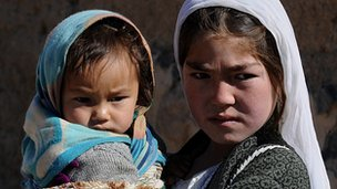 Hazara girls in Bamiyan province (file photo - 2009)