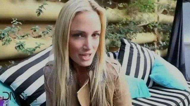 Reeva Steenkamp at launch of reality TV show