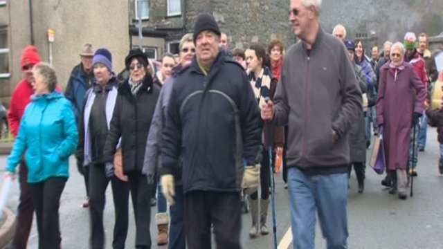 The Blaenau Ffestiniog hospital protest