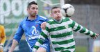 Jason McCartney and Ryan Deans battle for possession during Donegal Celtic&#039;s win over Ballinamallard