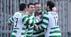 Chris Burns scored the winning goal for DC against Ballinamallard in the game at Suffolk Road