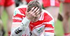 Tom McCloskey shows his disappointment after Loughgiel lose to St Thomas in the semi-final replay