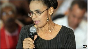 Former Brazil environment minister Marina Silva