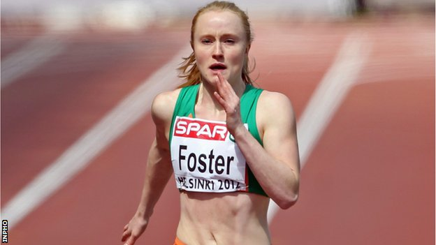 Amy Foster in action at last year's European Outdoor Championships