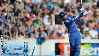 Joe Root is bowled