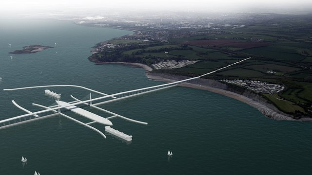 Severn Barrage artist&#039;s impression