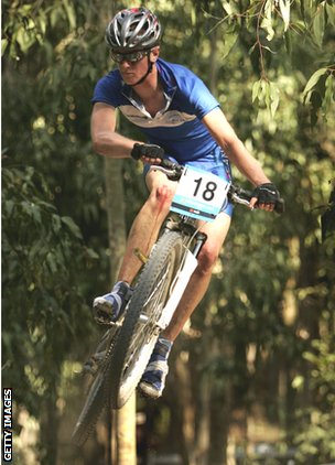 Rab Wardell competes for Scotland at the Commonwealth Games in Melbourne