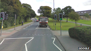 Pelican crossing on Catterick Road