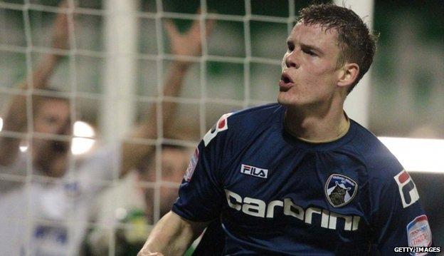 Oldham Athletic striker Matt Smith