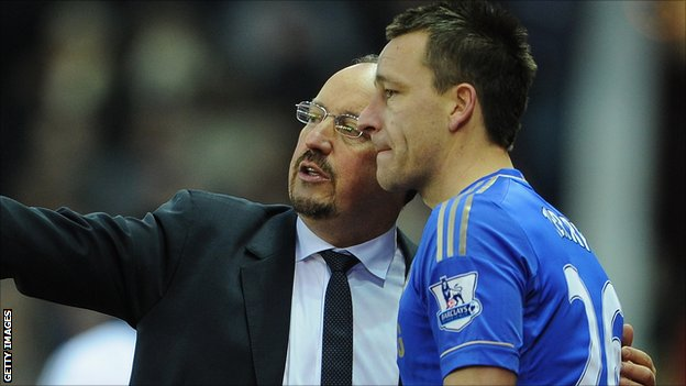 Rafael Benitez and John Terry
