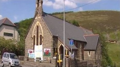 All Saints Church in Maerdy