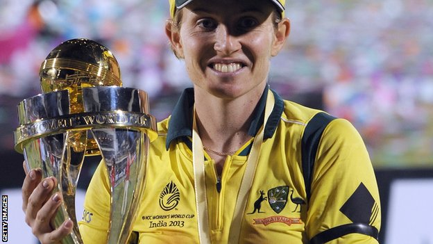 Australia captain Jodie Fields with the World Cup
