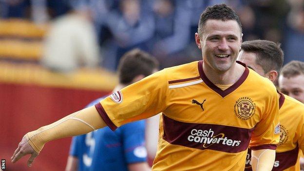 Motherwell striker Michael Higdon