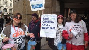 Protest against changes to Charing Cross Hospital