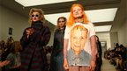 Dame Vivienne Westwood at her London Fashion Week show