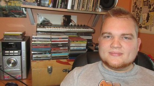24-year-old Simon Wilson has around 1,000 CDs and DVDs