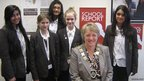 Fullbrook School and the Mayor of Runnymede, Councillor Linda Gillam
