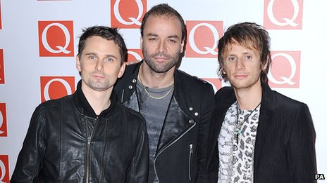 Matt Bellamy, Chris Wolstenholme and Dominic Howard