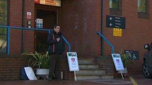 Lone protester in Bangor