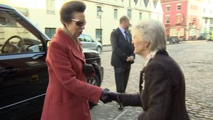 Princess Royal (l) at ARA